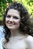 Jeune femme avec le collier Photographie stock libre de droits
