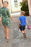 Jeune femme avec le garçon Photos libres de droits