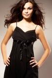 Jeune femme avec le long cheveu Photo stock