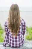 Jeune femme avec le long cheveu Images libres de droits