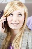 Jeune femme avec le téléphone Photo libre de droits