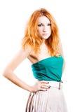 Jeune femme avec les poils rouges Photo stock