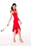 Jeune femme avec une rose Image libre de droits