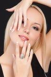 Jeune femme blonde Photo libre de droits