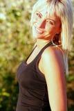 Jeune femme blonde Photo stock