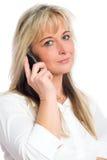 Jeune femme blonde d'affaires Photo stock