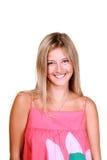 Jeune femme blonde de sourire Photo libre de droits