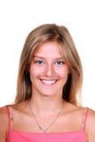 Jeune femme blonde de sourire Images libres de droits
