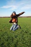 Jeune femme branchante Photos libres de droits