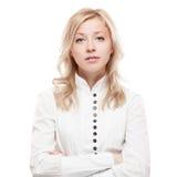 Jeune femme calme d'affaires Photo libre de droits