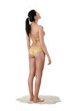 Jeune femme caucasien dans le bikini Photographie stock libre de droits