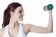 Jeune femme caucasien faisant des exercices de forme physique photo libre de droits