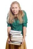 Jeune femme choqué de blondie de beauté Photo stock