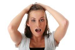 Jeune femme choquée image stock