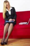 Jeune femme d'affaires Images libres de droits