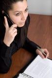 Jeune femme d'affaires arabe Images libres de droits