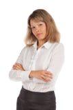 Jeune femme d'affaires avec du charme Photographie stock libre de droits