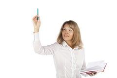 Jeune femme d'affaires avec du charme Image stock