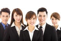 Jeune femme d'affaires avec l'équipe réussie d'affaires Photos libres de droits