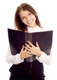 Jeune femme d'affaires avec le livre photos libres de droits