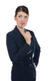 Jeune femme d'affaires avec un crayon lecteur Photo libre de droits
