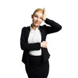 Jeune femme d'affaires chargée Images libres de droits