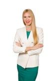 Jeune femme d'affaires d'isolement Image libre de droits