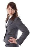 Jeune femme d'affaires dans le procès Photo stock