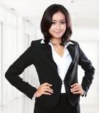 Jeune femme d'affaires de confiance Photographie stock