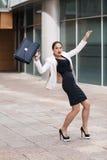 Jeune femme d'affaires effrayée photo stock