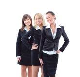 Jeune femme d'affaires et son équipe Images stock