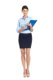Jeune femme d'affaires heureuse Photo stock