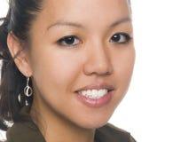 Jeune femme d'affaires heureuse image stock