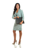 Jeune femme d'affaires Holding Binder Image stock