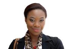 Jeune femme d'affaires noire Photos stock