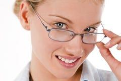 Jeune femme d'affaires ou étudiant attirante photographie stock