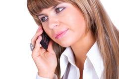 Jeune femme d'affaires parlant au téléphone Photos stock