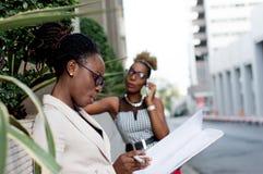 Jeune femme d'affaires prenant des notes Photographie stock