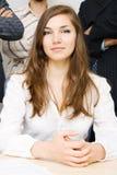 Jeune femme d'affaires réussie Photo stock