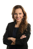 Jeune femme d'affaires Smiling Photographie stock