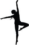 Jeune femme danding Image libre de droits