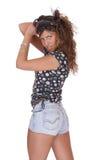 Jeune femme dans des circuits de jeans image libre de droits