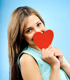 Jeune femme dans l'amour Photos stock