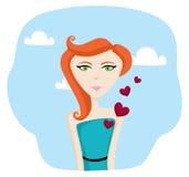 Jeune femme dans l'amour Image libre de droits