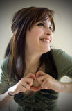 Jeune femme dans l'amour Photographie stock