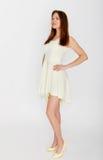 Jeune femme dans la robe Photo libre de droits