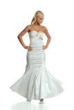 Jeune femme dans la robe blanche Image libre de droits
