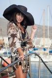 Jeune femme dans la robe d'été Photos stock