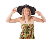 Jeune femme dans la robe d'été photographie stock libre de droits