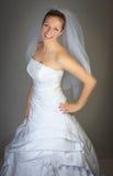 Jeune femme dans la robe de mariage Photo libre de droits